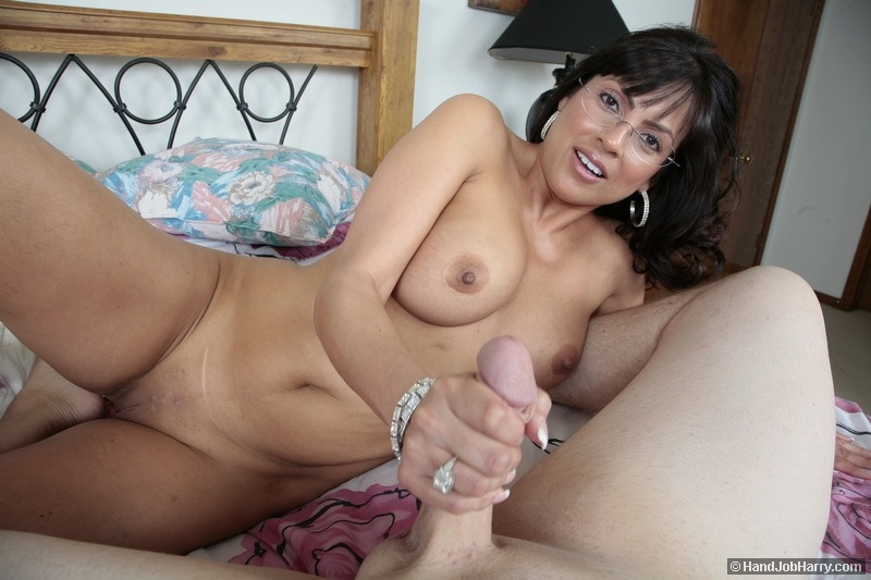 Babe milf giving hand jobs to old